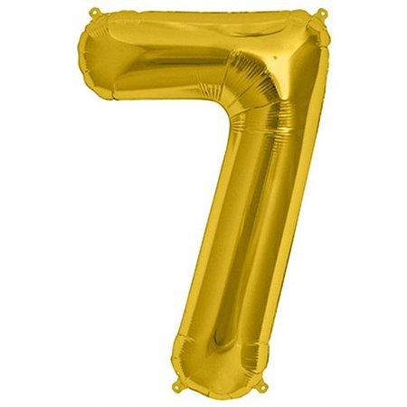Balão Decorativo Número 7  - 1 Unidade