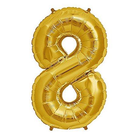 Balão Decorativo Número 8  - 1 Unidade