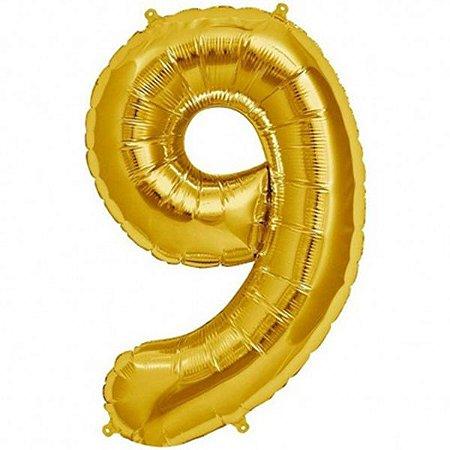Balão Decorativo Número 9  - 1 Unidade