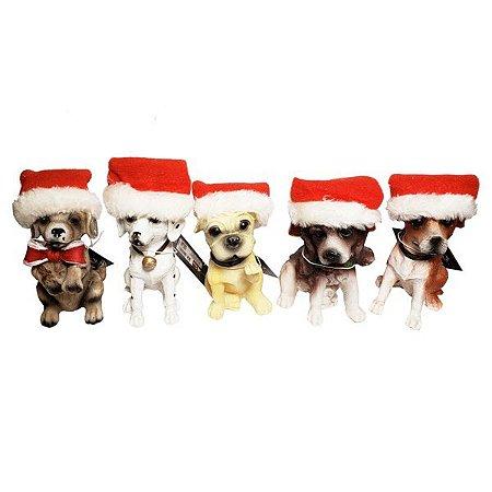 Cachorrinho Resina Xmas - Modelos Sortidos - 12 Peças