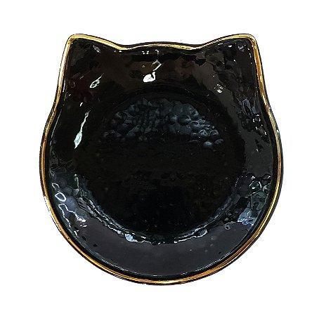 PRATO DE CERAMICA BLACK CAT  - 10x10cm  - 1 Unidade