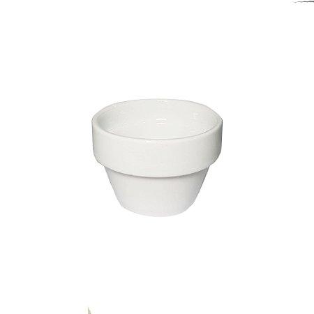 VASO DE CERÂMICA WHITE POINT  - 7,5x5 cm - 1 Unidade