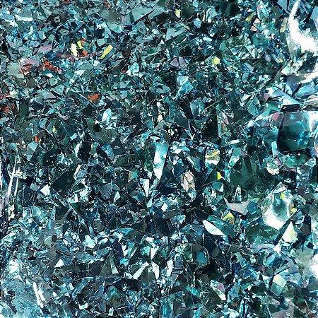CONFETE DE PLASTICO METALICO AZUL 15g