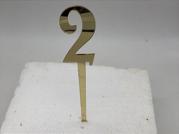 TOPO PARA BOLO NUMERO 2 - 22CM