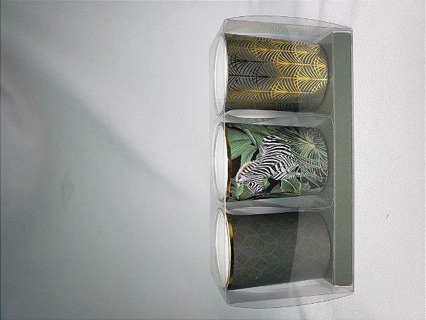 VELAS COM POTE DE VIDRO TURKEY 8cm 3pcs