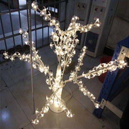 ARVORE LUZES DE FADA COM LUZES LED DE ACO E PVC 110cm