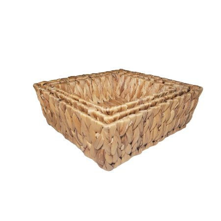 Cesta decorativa de palha - 3pc 17*6/20*7/23*8cm