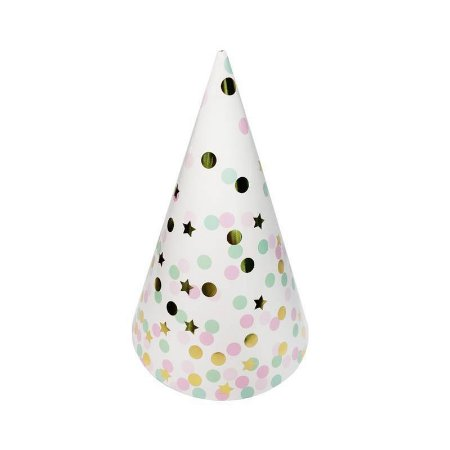 CHAPEU DE PAPEL FESTA STAR LIGHT - 20 cm - 10pcs