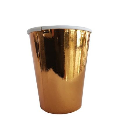 COPO DE PAPEL ROSE GOLD 8.5cm 8pcs