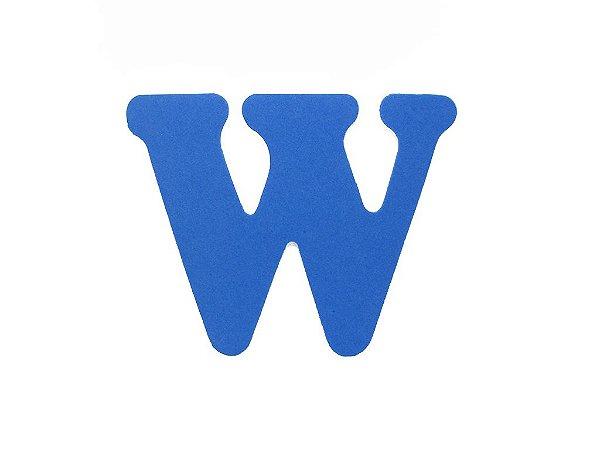 Letra W - Média em E.V.A Várias Cores - 1 Unidade