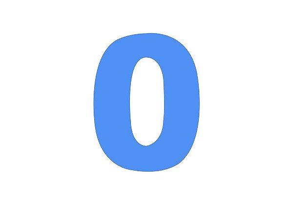 Número 0 - Médio em E.V.A Várias Cores - 1 Unidade