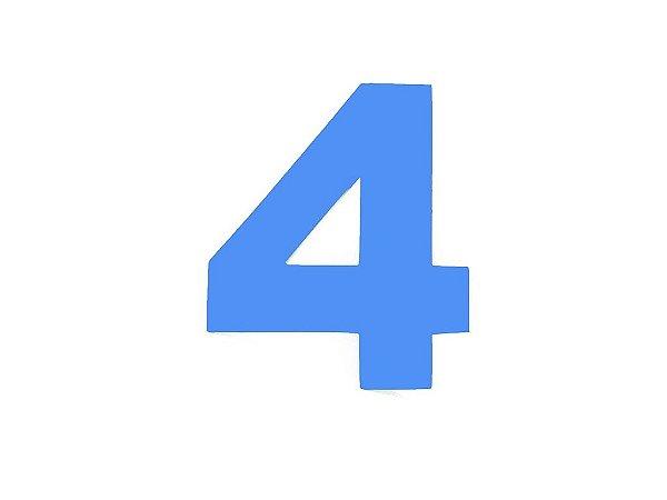 Número 4 - Médio em E.V.A Várias Cores - 1 Unidade