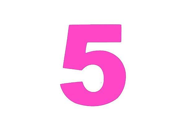 Número 5 - Médio em E.V.A Várias Cores - 1 Unidade