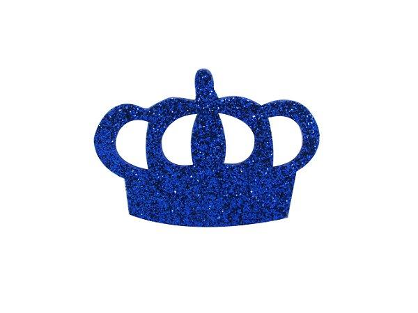 Coroa Aberta G E.V.A com Glitter Várias Cores - 6 Unidades