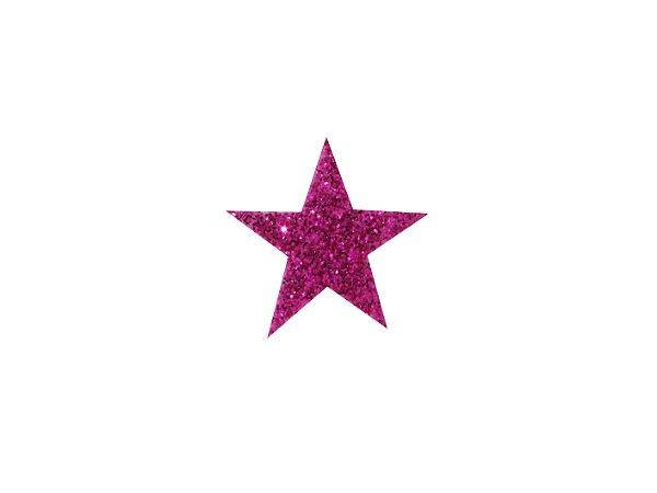 Estrela P E.V.A com Glitter Várias Cores - 20 Unidades