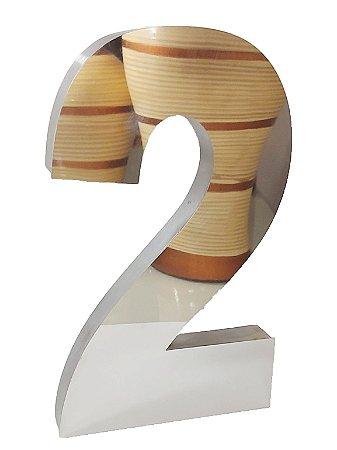 Números em aço inox de 15cm de altura (números de casa)
