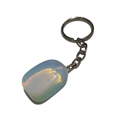 Chaveiro Pedra Lua Opalina | Brinde (Ler Regras na Descrição)