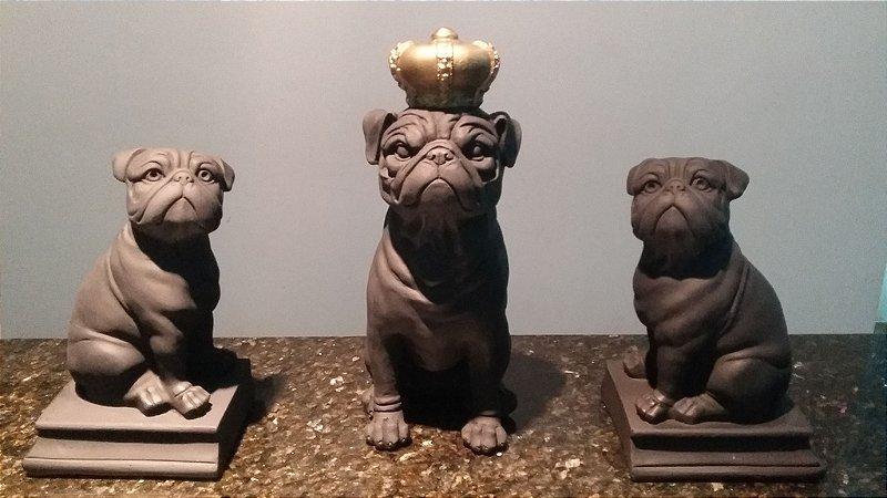 Trio de Pugs - Pug Coroa + Pug Aparador