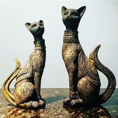 Par de Gatos Egípcios