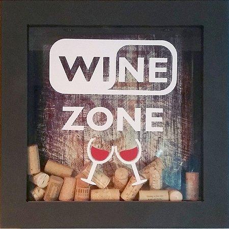 Quadro Porta Rolhas de Vinhos Wine Zone 30x30