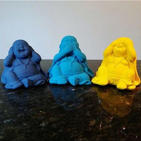 Mini Budas Sábios Petróleo, Turquesa e Amarelo