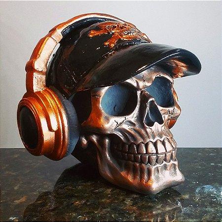 Caveira com Fones Copper