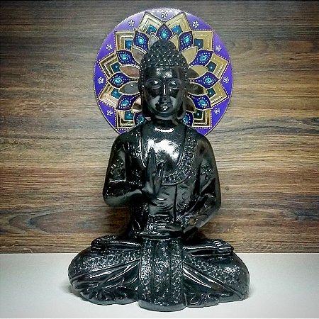 Big Buda Abhaya Mudra Black Piano