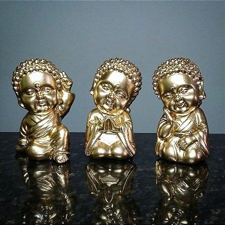 Trio de Budas Zen Gold
