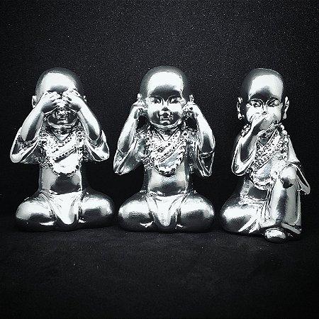 Trio de Monges Sábios Crome 8cm