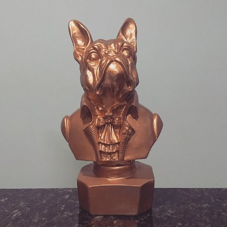 Busto Bulldog Francês Copper