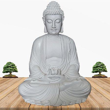 Big Buda Dhyana Mudra Marmorite 55 Cm