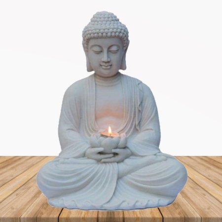 Big Buda Zen Lótus Marmorite 34 cm