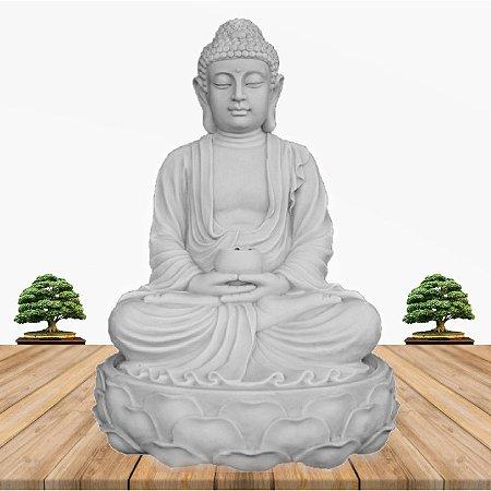 Fonte Buda Zen Lótus Marmorite 90cm