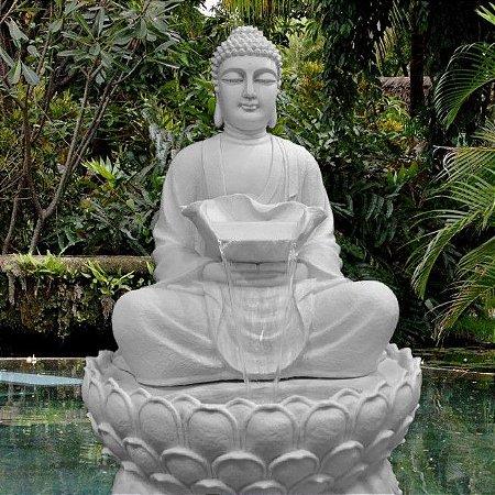 Fonte Buda Grande Para Jardim C/ 1 Metro e 35 Cm