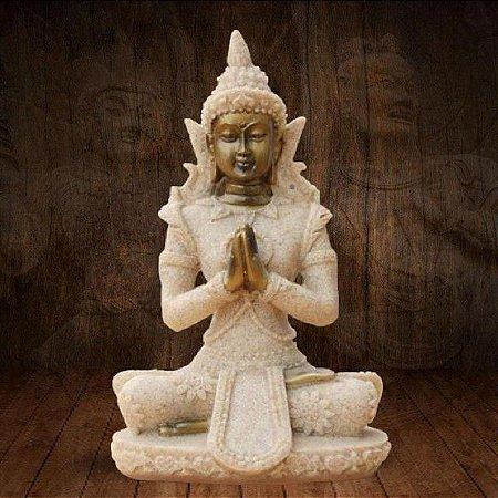 Buda Thay Small Arenito Oração