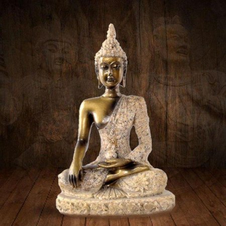 Buda Thay Small Arenito Meditação