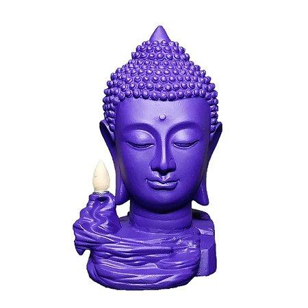 Incensário Cascata de Fumaça Budha Head Colors + 50 Cápsulas
