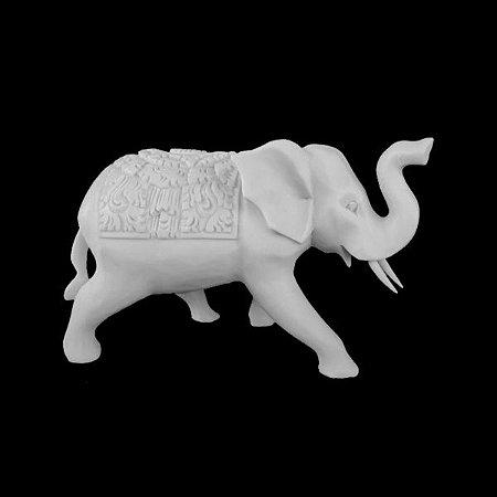 Escultura Elefante Indiano White Stone
