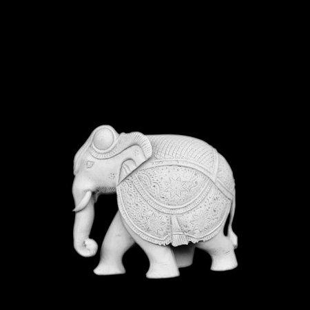 Escultura Elefante Baby Marmorite