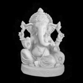 Escultura Ganesha Fun Marmorite