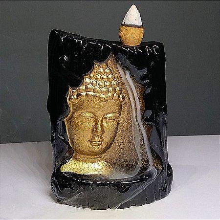 Incensário Cascata Buda Face + 50 Cápsulas