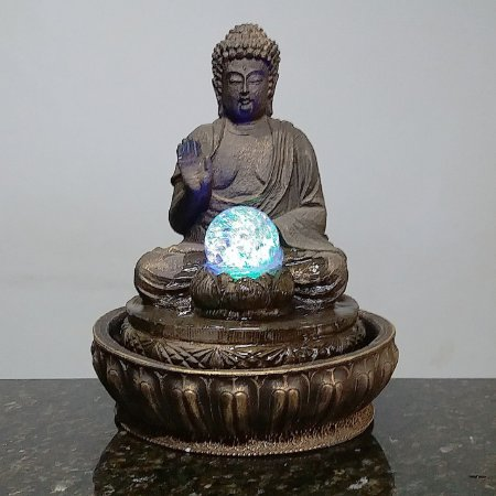 Fonte Buda Meditação Old Wood