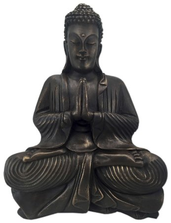 Big Buda Anjali Mudra Old Gold