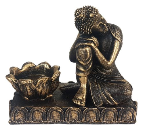 Castiçal Buda Relax Old Gold