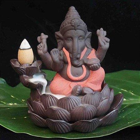 Incensário Cascata Ganesha Baby Vermelho