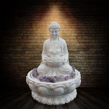 Fonte Buda Zen Lótus Marmorite 45 cm 220V