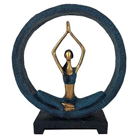 Estatueta Yoga Sukhasana