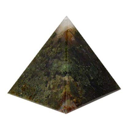 Pirâmide De Pedra Natural Ágata Preta 6x4 cm