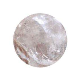 Esfera De Cristal Quartzo Semi Transparente 5 Cm