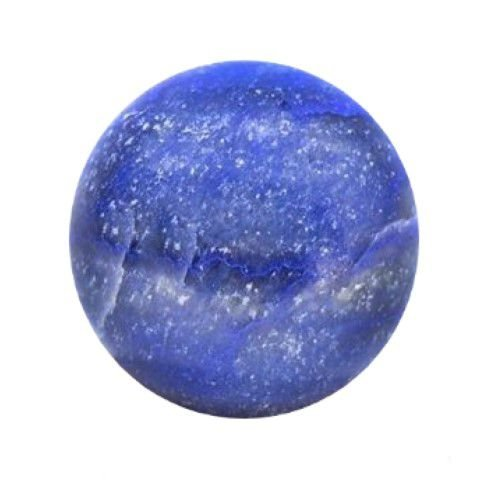 Esfera de Quartzo Safira Natural Azul 5 Cm